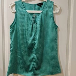 The Limited green soft sleeveless blouse
